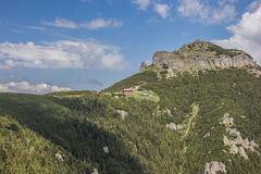View on the top of the Ceahlau mountain range Stock Photo