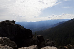 View From Top Of Chilnualna Falls Trail Yosemite Royalty Free Stock Photo