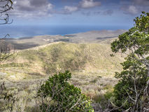 View from the top of Christoffel mountain. Views from the top of Christoffel National park looking down to Curacao coastline Stock Images