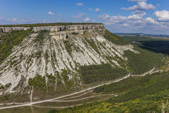 View from the top of Chufut-Kale near Bakhchisaray Royalty Free Stock Images