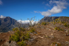 View from the top of the cirque of Mafate, Reunion Stock Photography