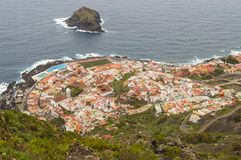 View in the top of the city of Garachico stock photography
