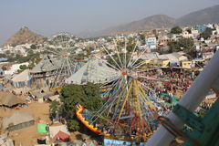 View from the top of the city of Pushkar Stock Images