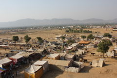 View from the top of the city of Pushkar Stock Photography