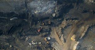 View of top coal mining quarry