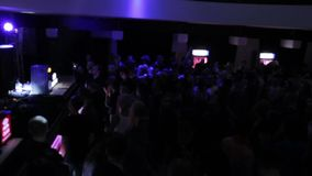 View from top on crowded dance floor, music video background stock video footage