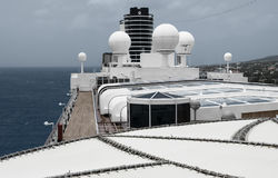 View of the top of a  cruise ship Stock Image