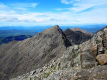 View from top of Cuillin mountains on the Isle of Skye. In Scotland Royalty Free Stock Photos