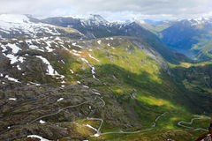 View from top of dalsnibba, norway Stock Image