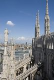 View from the top of Duomo di Milano Royalty Free Stock Photo