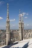 View on the top of Duomo di Milano Royalty Free Stock Photography