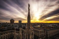 Milan Duomo rooftop Stock Photography