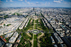 Paris landscape - champ de mars Royalty Free Stock Photos