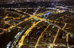 View from top of Eiffel Tower Stock Images