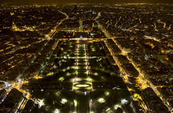 View from top of Eiffel Tower Royalty Free Stock Photo