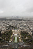 A View from The Top of The Eiffel Tower. One Winter Day before New Year Eve we were taking a walk around Paris and we got to the top of the Eiffel Tower Stock Photography