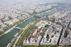 View from top of Eiffel Tower. In Paris Royalty Free Stock Photos
