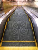 Escalator viewed from Top. View from Top of Escalator Stock Images