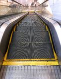 Escalator viewed from Top. View from Top of Escalator Stock Photo