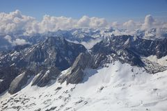 View from the Top of Germany, Zugspitze Mountain Stock Image