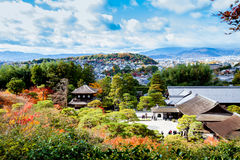 View top Ginkakuji temple Royalty Free Stock Images