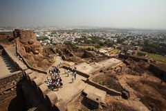 View from top of Golconda Fort, Hyderabad Stock Image