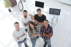 Group of successful young designers. View the top. a group of successful young designers royalty free stock photo