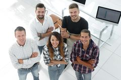 Group of successful young designers. View the top. a group of successful young designers royalty free stock photography