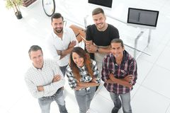 Group of successful young designers. View the top. a group of successful young designers stock photo