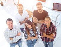 Group of successful young designers. View the top. a group of successful young designers stock photos