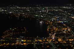 View on top in Hakodate Royalty Free Stock Image