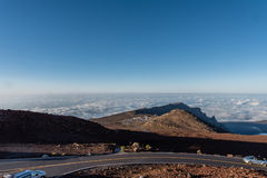 View from the top of the Haleakala volcano crater on Maui royalty free stock image