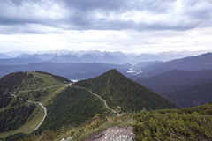 View from top of Herzogstand, Bavaria, Germany Stock Photos