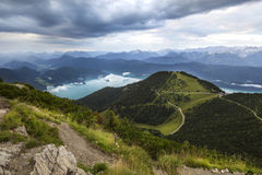 View from top of Herzogstand, Bavaria, Germany Stock Photo