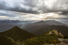 View from top of Herzogstand, Bavaria, Germany Stock Image