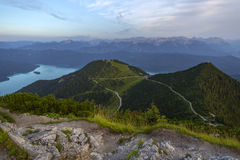 View from top of Herzogstand, Bavaria, Germany Royalty Free Stock Photography