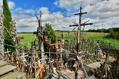 View from the top. Hill of Crosses. Siauliai. Lithuania Royalty Free Stock Photo