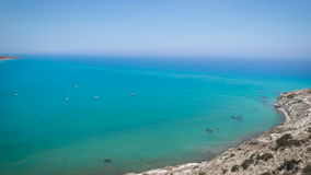 View from top of a hill, Cyprus stock video footage