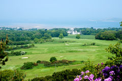 View from the top of the hill on Deer castle and beach in Howth Stock Photography