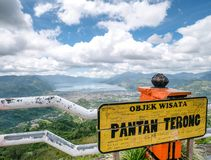 View From Top of the Hill Facing the Lake, Lut Tawar Lake Takengon, Aceh, Indonesia. Pantan Terong Takengon, Aceh Tengah: View From Top of the Hill Facing Lake Royalty Free Stock Photo