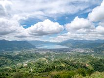View From Top of the Hill Facing the Lake in Lut Tawar Lake Takengon, Aceh, Indonesia. Pantan Terong Takengon, Aceh Tengah: View From Top of the Hill Facing Lake Royalty Free Stock Photo