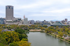 View from top of Hiroshima Castle Stock Photos
