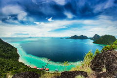 View from the top island. Views of the islands from the top of an island Stock Photography