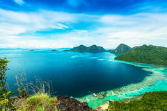 View from the top island. Views of the islands from the top of an island Royalty Free Stock Photography