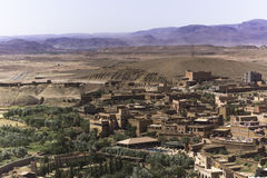 View from the top of the kasbah ait ben haddou Royalty Free Stock Images