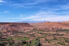 View from Kasbah Ait Ben Haddou stock image
