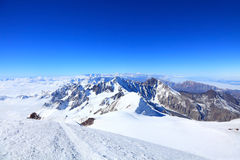 View from the top of Kazbek Stock Photography