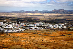 View from the top in lanzarote spain Stock Image