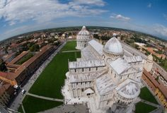 View from the top of the Leaning Tower Stock Image