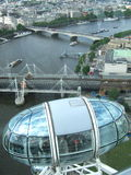A view from the top - London city. A drive on London eye - view from the top Royalty Free Stock Images